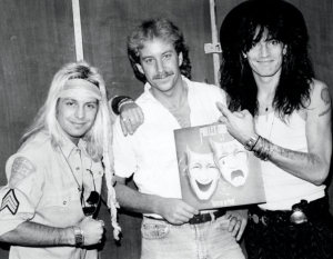 Me in the middle with Vince Neil and Tommy Lee of Motley Crue at a radio station promo in the early 80s . . . still thinking like a rock star! ___________________________________